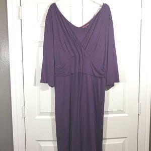 Jessica London plus purple Maxi Dress size 26